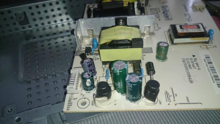 ремонт платы монитора